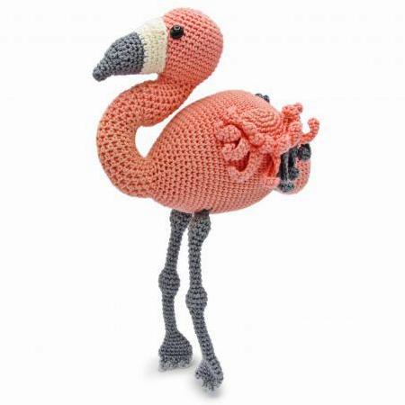Rose Métal Oiseau Crochet