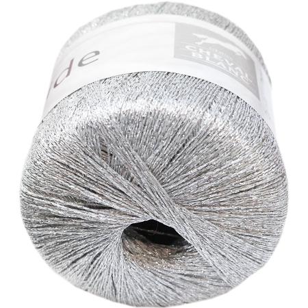 Argent fil métallisé Brocade Paillettes Mousseux CROCHET TRICOT FIL boule