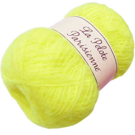Laine chantilly jaune fluo