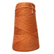 Fil macramé lin orange