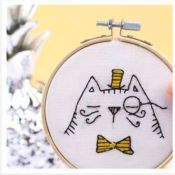 Kit broderie chat
