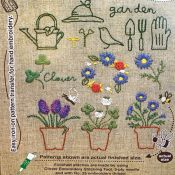 kit broderie prunch needle jardin